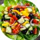 Bunte Salatplatte