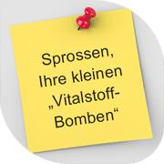 """SPROSSEN, IHRE KLEINEN """"VITALSTOFF-BOMBEN"""""""