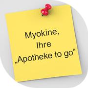 "MYOKINE, IHRE ""APOTHEKE TO GO"""